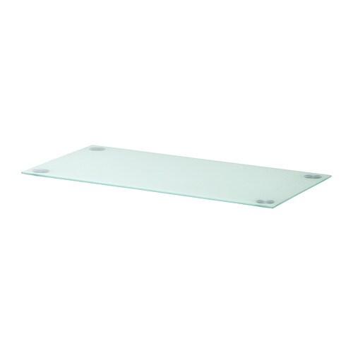 Glasholm plateau verre blanc ikea for Plateau en verre ikea