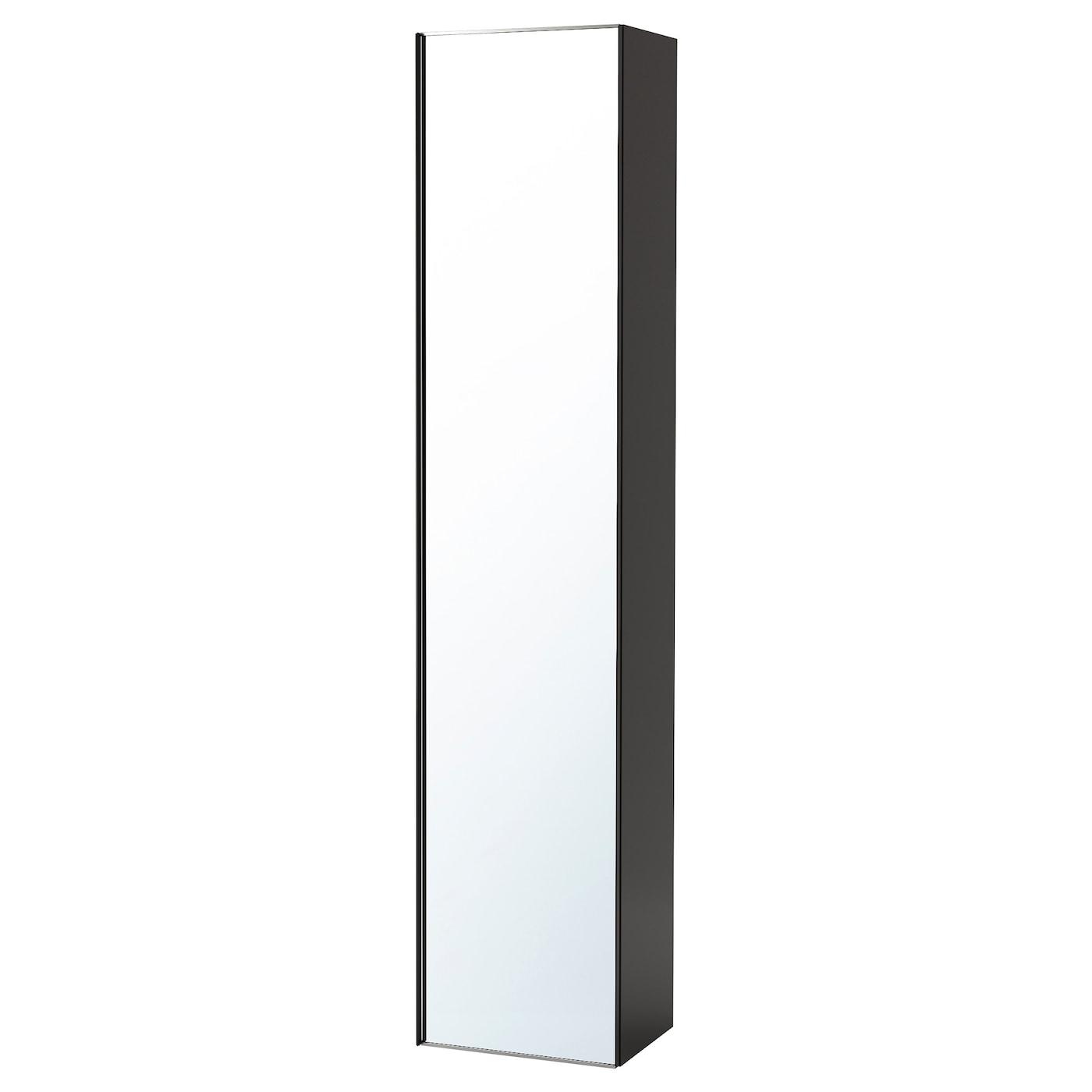 godmorgon armoire avec porte miroir brillant gris 40x32x192 cm ikea. Black Bedroom Furniture Sets. Home Design Ideas