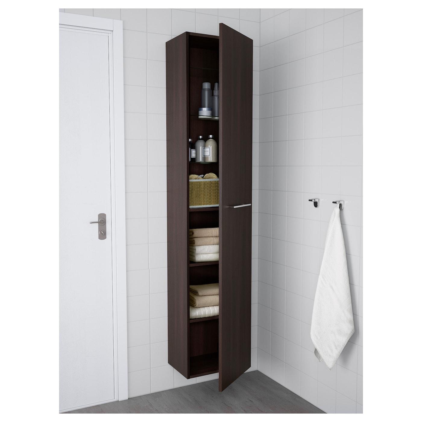 godmorgon armoire brun noir 40 x 32 x 192 cm ikea. Black Bedroom Furniture Sets. Home Design Ideas
