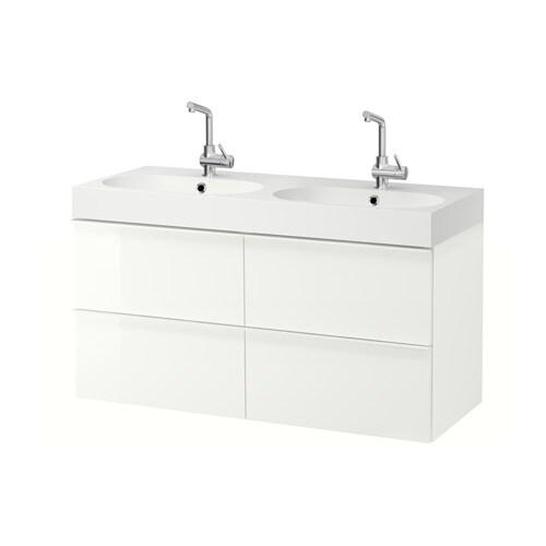 godmorgon br viken meuble lavabo 4tir brillant blanc ikea. Black Bedroom Furniture Sets. Home Design Ideas
