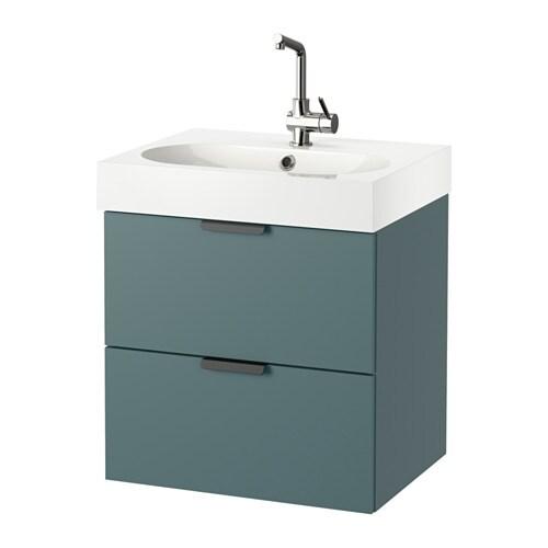 Godmorgon br viken meuble lavabo 2tir gris turquoise for Meubles lavabo ikea