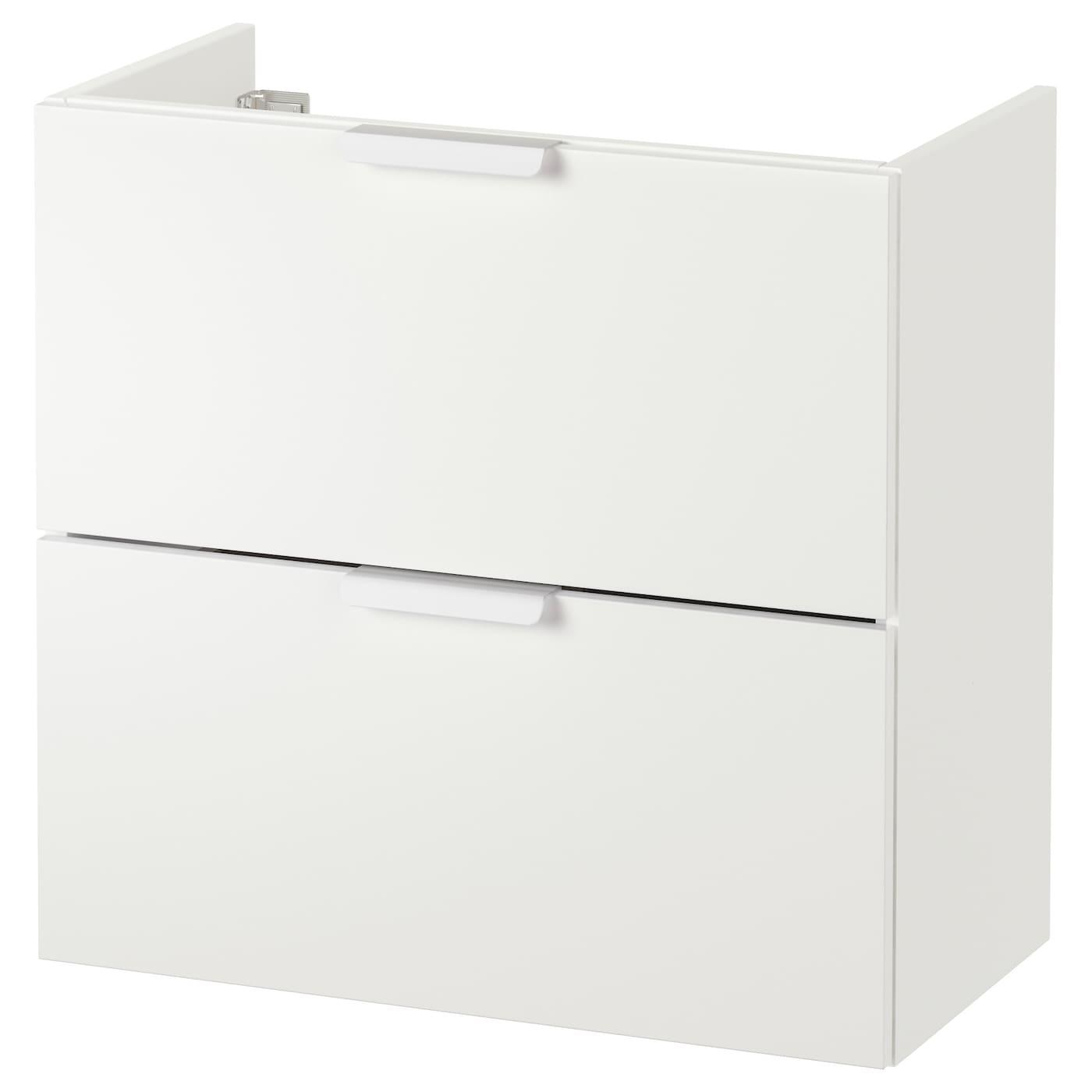 Godmorgon meuble lavabo 2tir blanc 60x32x58 cm ikea for Ikea meuble lavabo