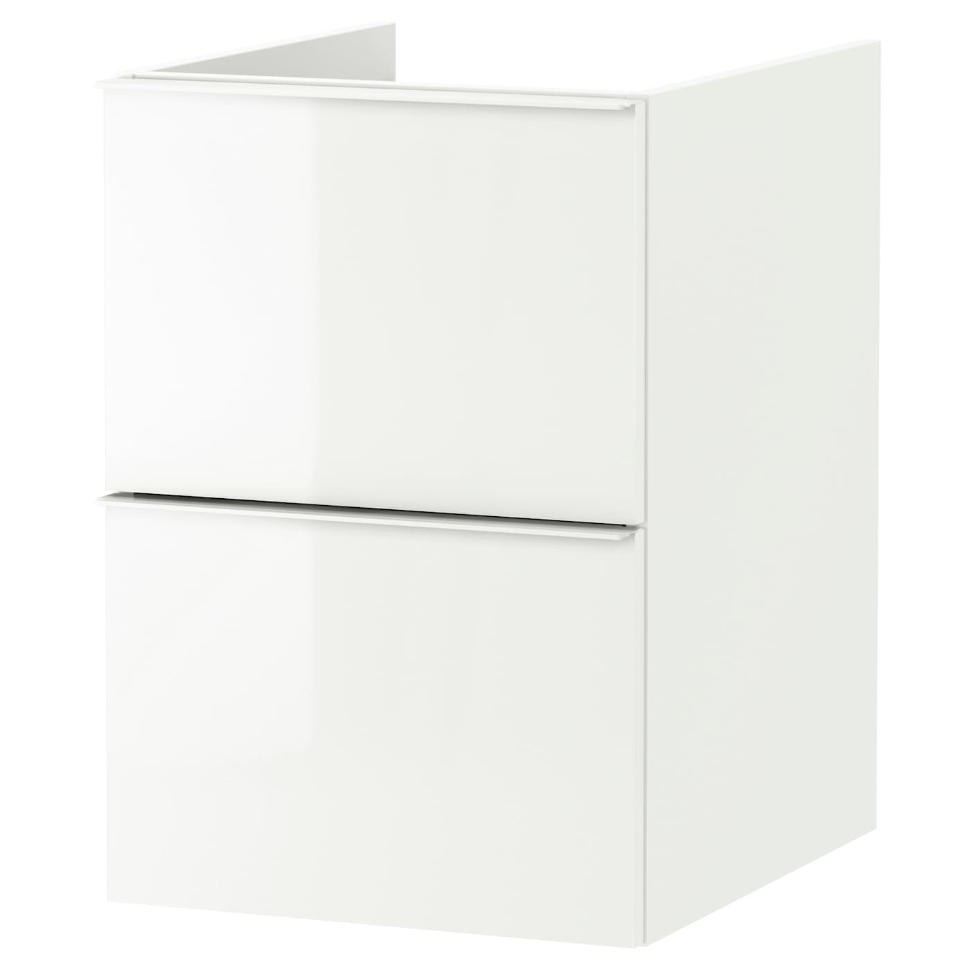godmorgon meuble lavabo 2tir brillant blanc 40 x 47 x 58 cm ikea. Black Bedroom Furniture Sets. Home Design Ideas