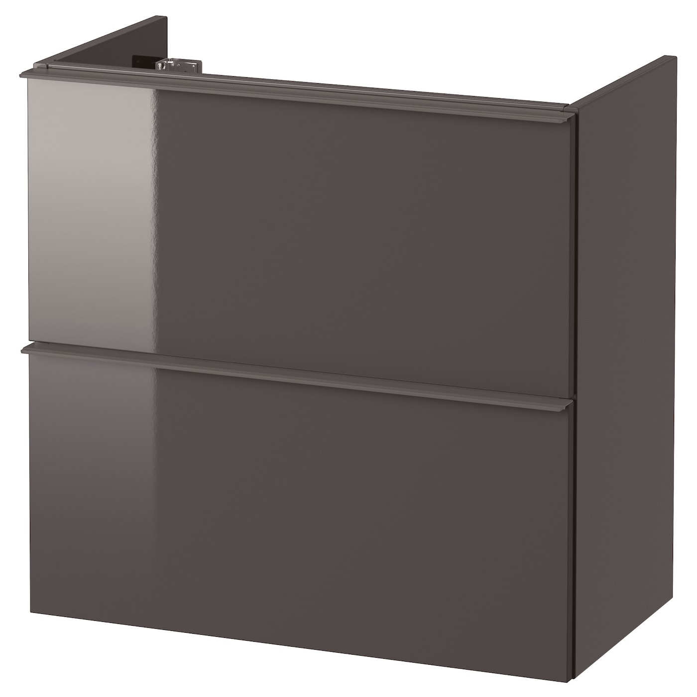 godmorgon meuble lavabo 2tir brillant gris 60x32x58 cm ikea. Black Bedroom Furniture Sets. Home Design Ideas