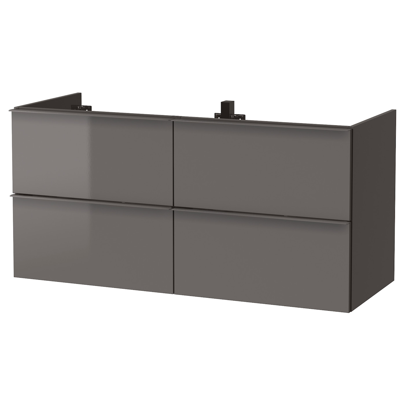 godmorgon meuble lavabo 4tir brillant gris 120 x 47 x 58 cm ikea. Black Bedroom Furniture Sets. Home Design Ideas
