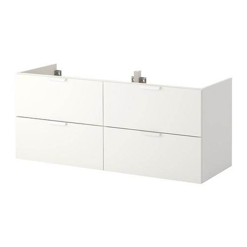 godmorgon meuble lavabo 4tir blanc 140x47x58 cm ikea. Black Bedroom Furniture Sets. Home Design Ideas
