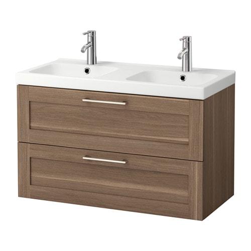 godmorgon odensvik meuble lavabo 2tir motif noyer ikea. Black Bedroom Furniture Sets. Home Design Ideas