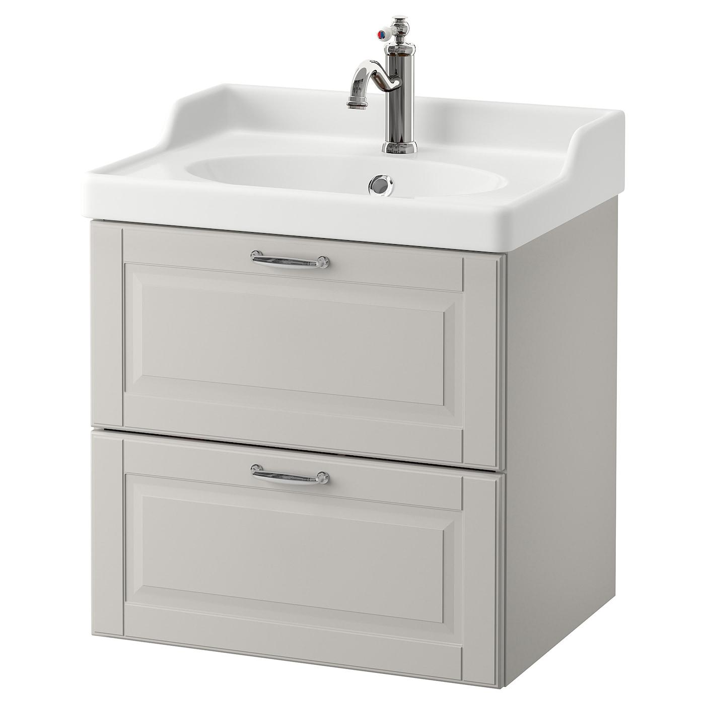 godmorgon r ttviken meuble lavabo 2tir kasj n gris clair 60x49x68 cm ikea. Black Bedroom Furniture Sets. Home Design Ideas