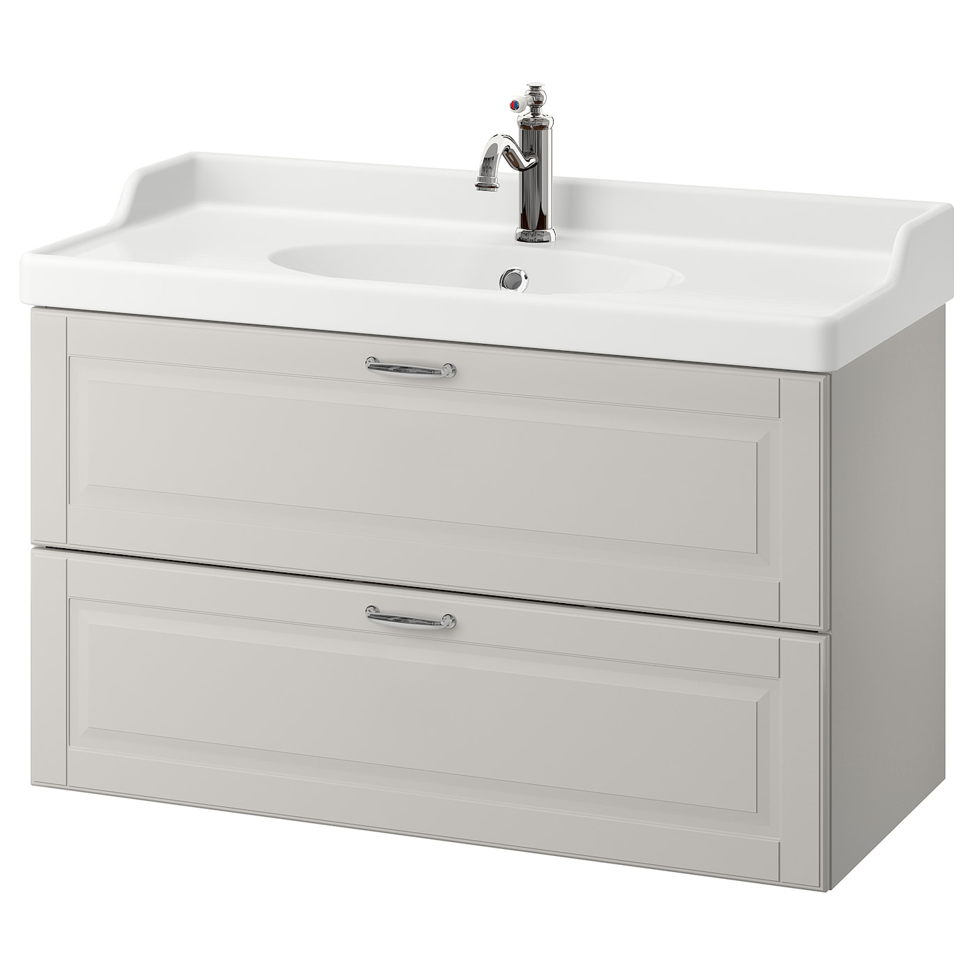 godmorgon r ttviken meuble lavabo 2tir kasj n gris clair 100x49x68 cm ikea. Black Bedroom Furniture Sets. Home Design Ideas