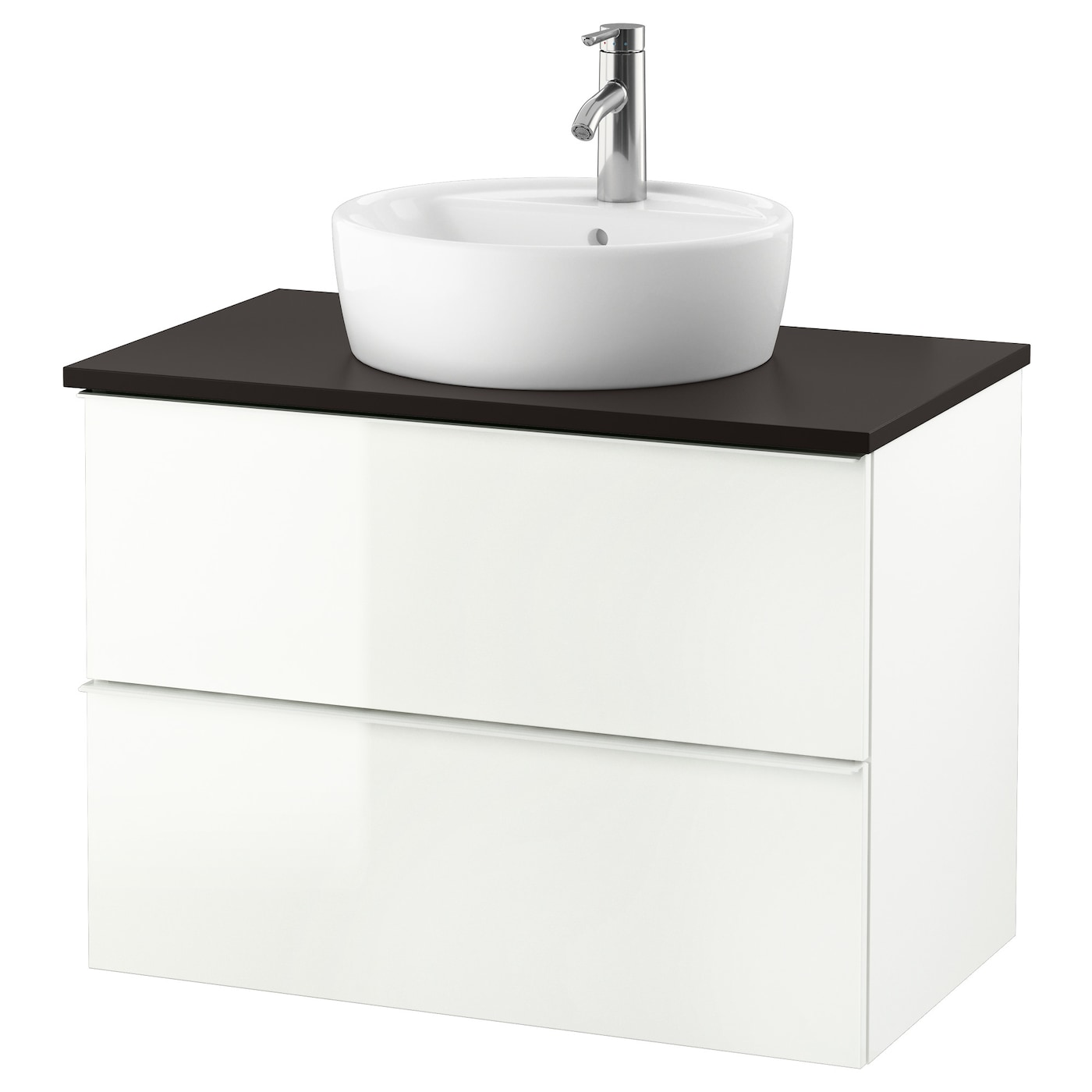 godmorgon tolken t rnviken meuble lavabo av lavabo poser 45 brillant blanc anthracite 82x49x74. Black Bedroom Furniture Sets. Home Design Ideas