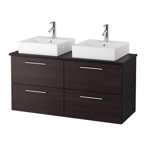 godmorgon tolken t rnviken meuble lavabo av lav poser 45x45 anthracite brun noir ikea. Black Bedroom Furniture Sets. Home Design Ideas