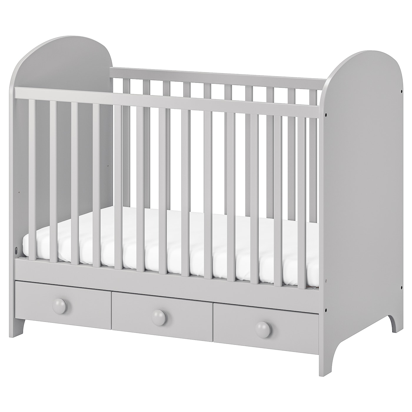 gonatt lit b b gris clair 60 x 120 cm ikea. Black Bedroom Furniture Sets. Home Design Ideas