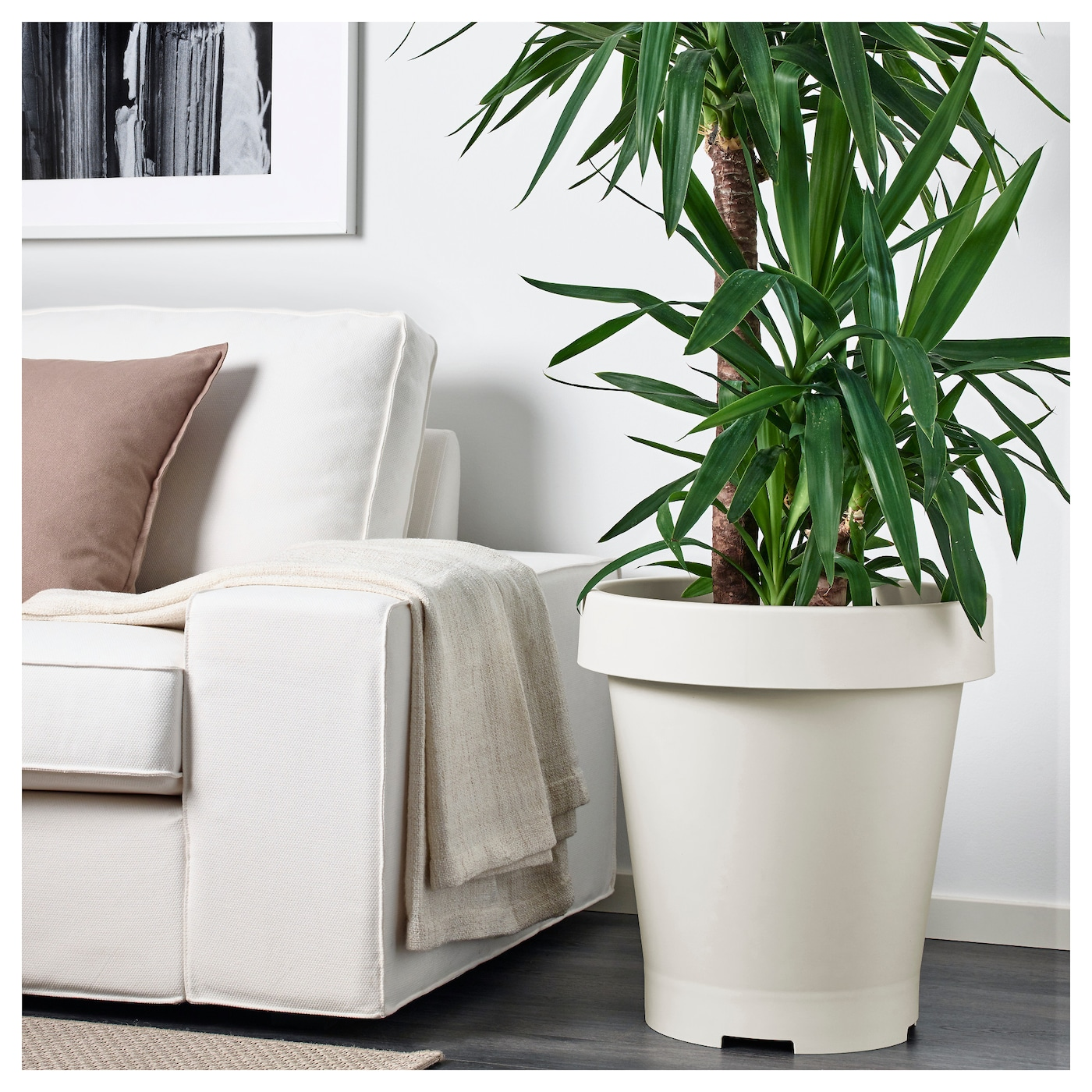 gr va cache pot int rieur ext rieur blanc 42x50 cm ikea. Black Bedroom Furniture Sets. Home Design Ideas