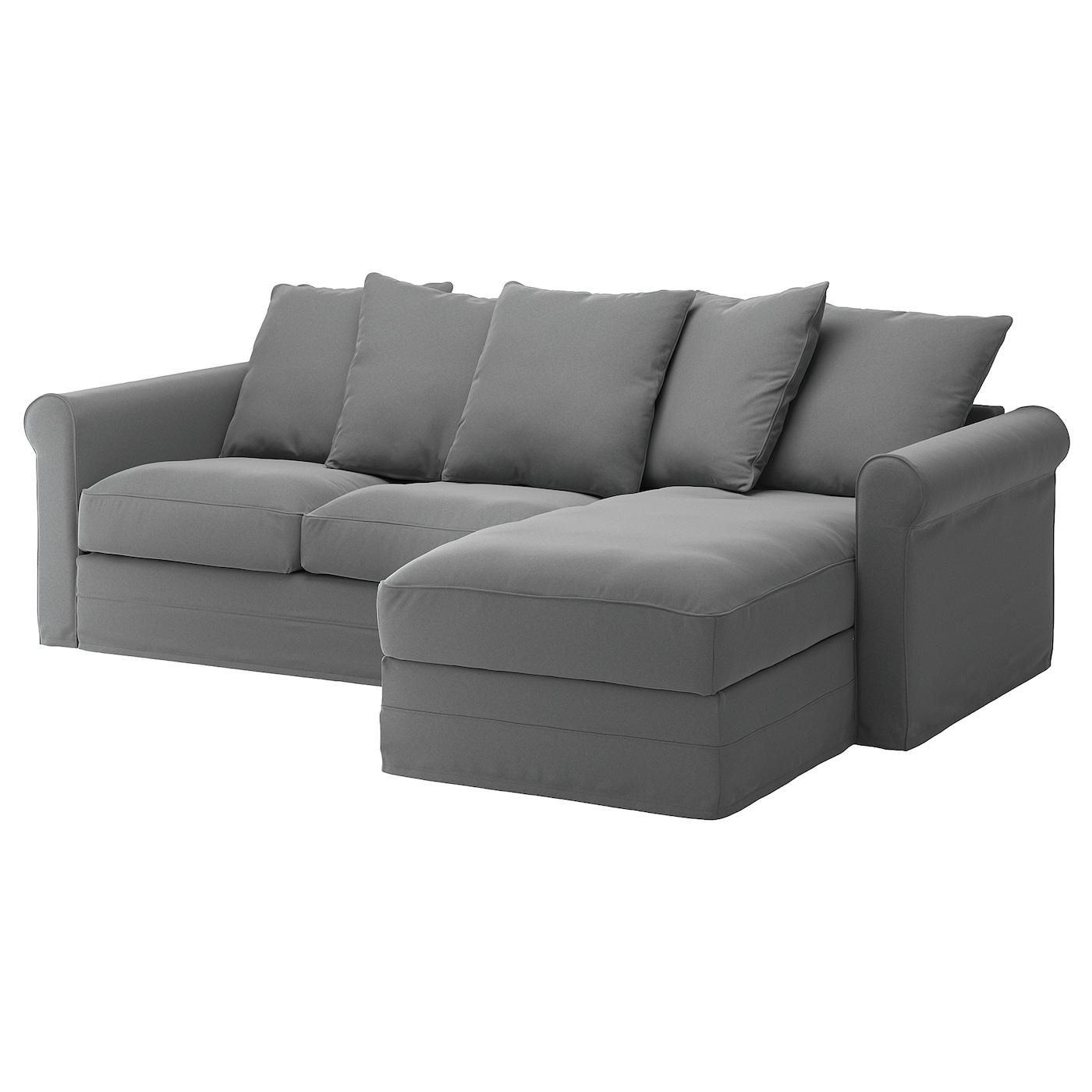 gr nlid canap 3 places avec m ridienne ljungen gris moyen ikea. Black Bedroom Furniture Sets. Home Design Ideas