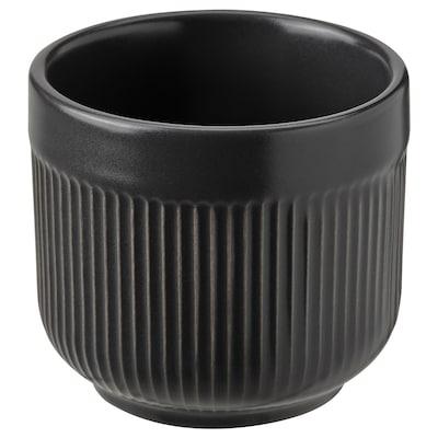 GRADVIS Cache-pot, intérieur/extérieur noir, 6 cm