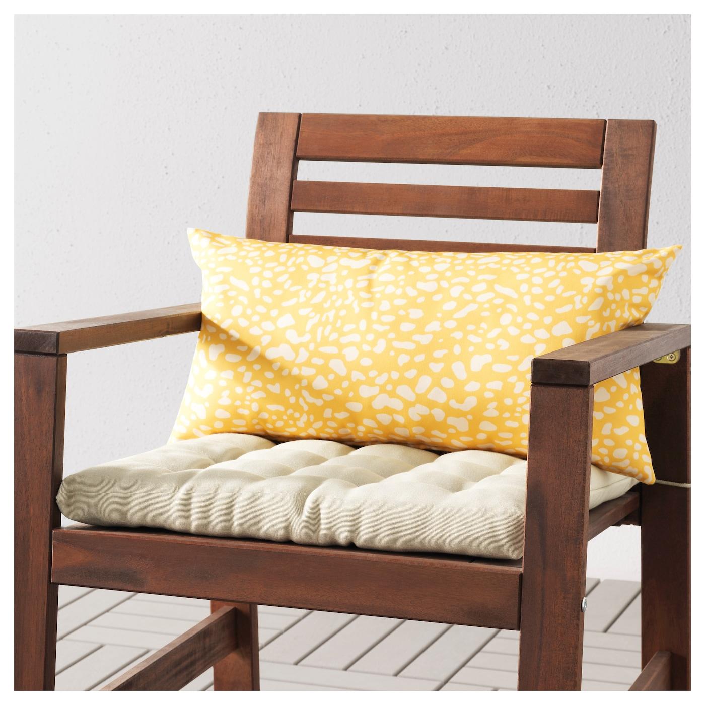 gren coussin ext rieur jaune blanc 59x30 cm ikea. Black Bedroom Furniture Sets. Home Design Ideas