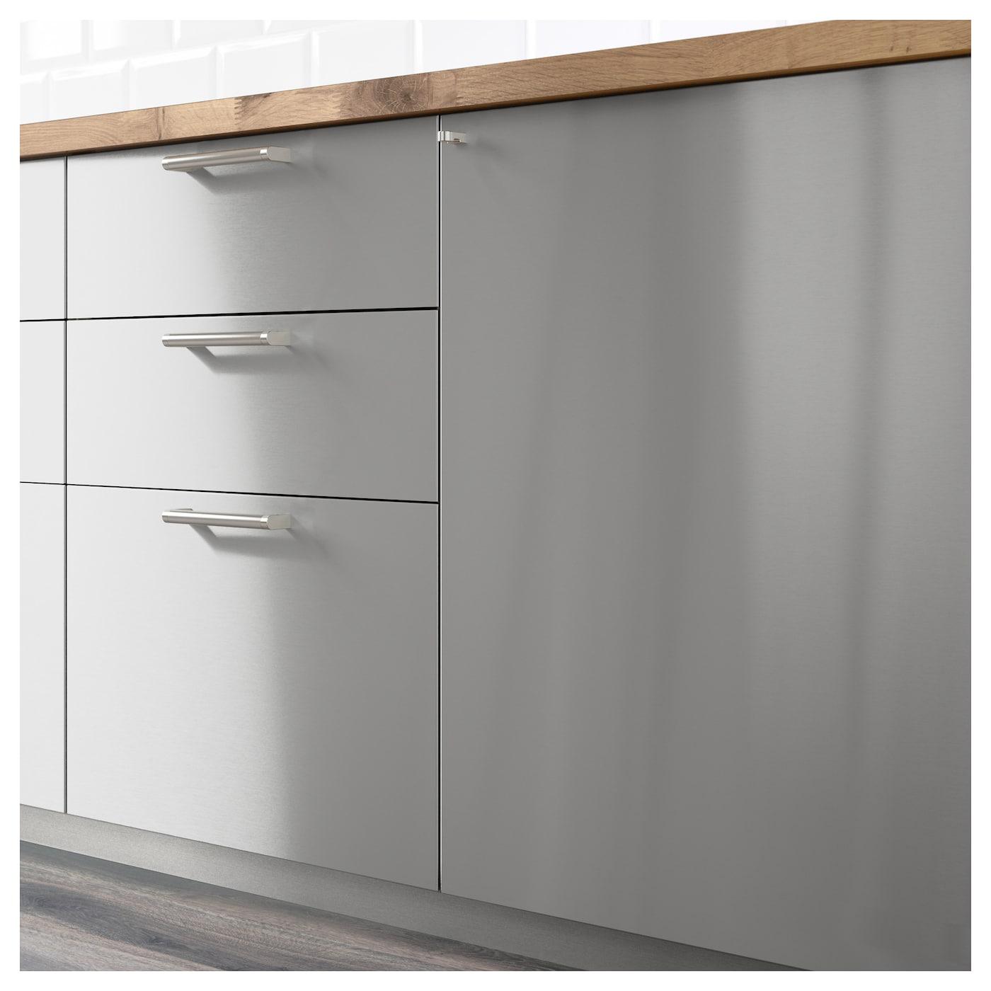 grevsta fa ade pour lave vaisselle acier inoxydable 45 x 80 cm ikea. Black Bedroom Furniture Sets. Home Design Ideas