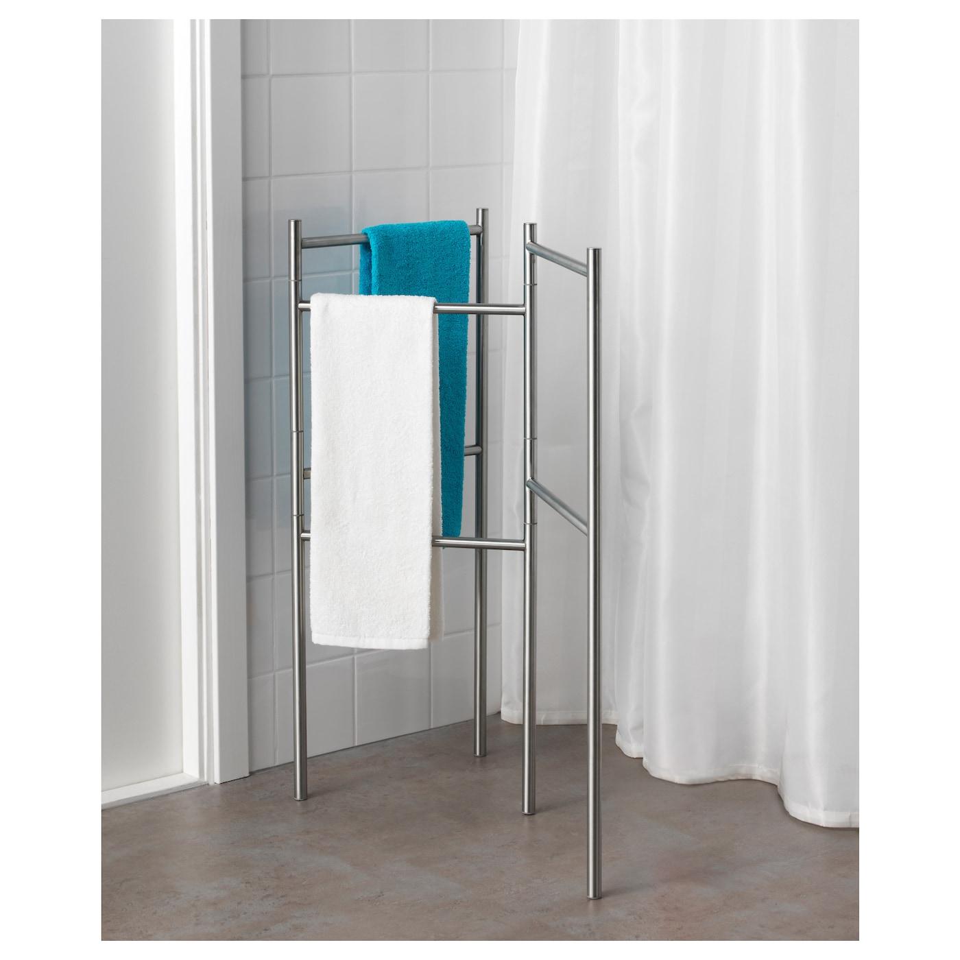 Grundtal portant serviettes acier inoxydable ikea for Porte serviettes ikea grundtal