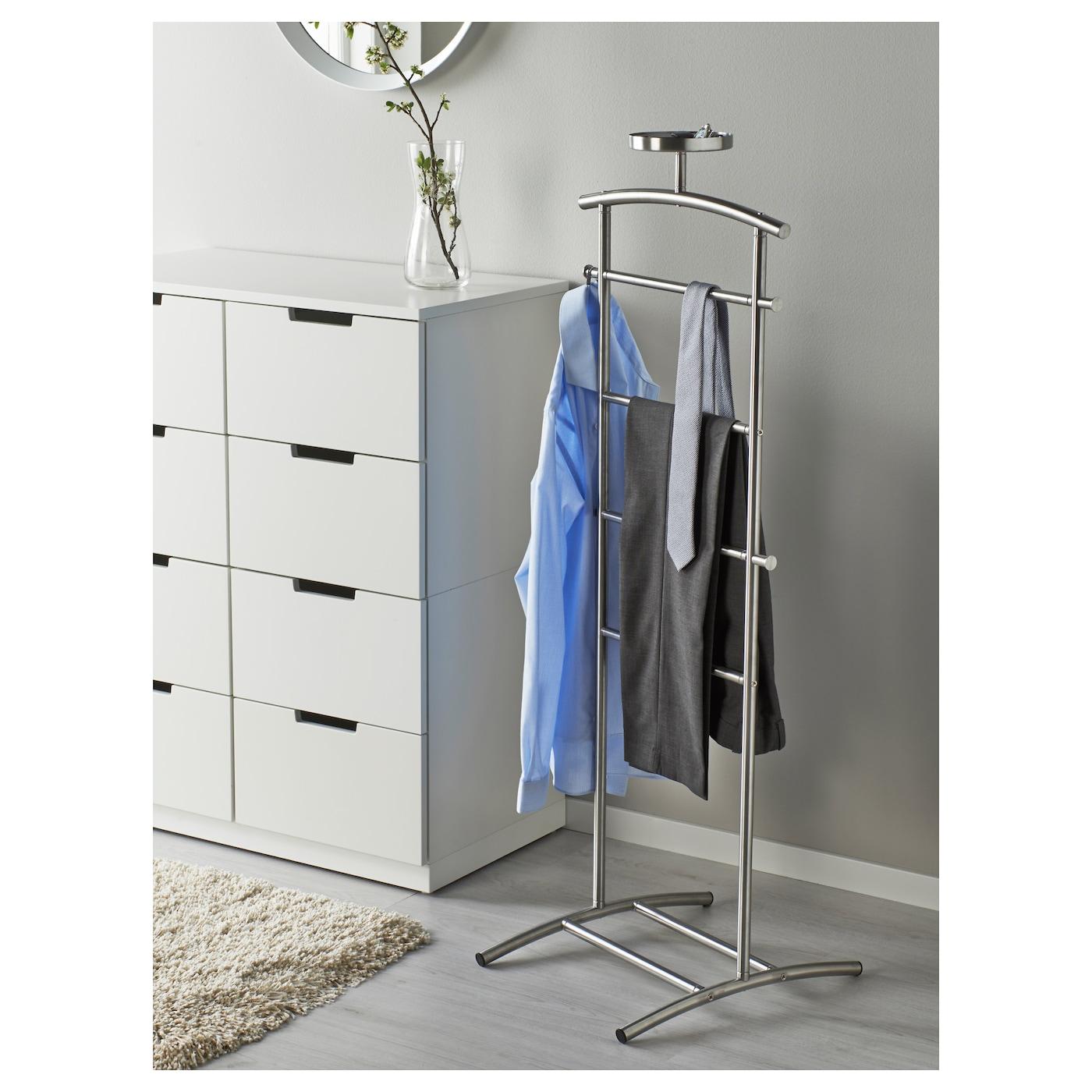 grundtal valet acier inoxydable 128 cm ikea. Black Bedroom Furniture Sets. Home Design Ideas