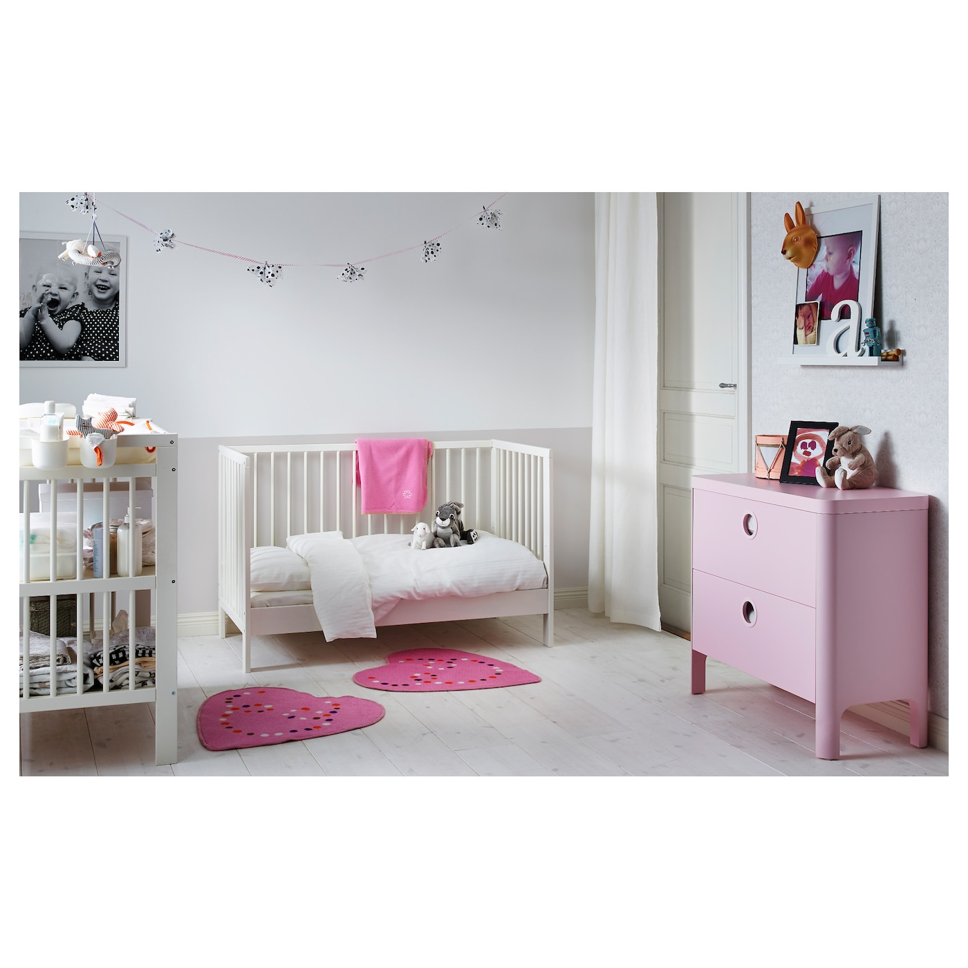 gulliver lit b b blanc 60x120 cm ikea. Black Bedroom Furniture Sets. Home Design Ideas