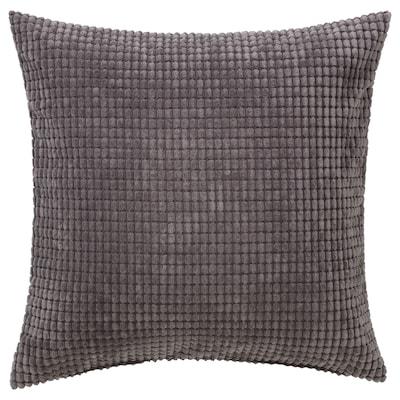 GULLKLOCKA Housse de coussin, gris, 50x50 cm