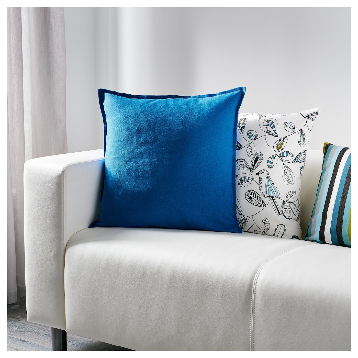 gurli housse de coussin bleu 50 x 50 cm ikea. Black Bedroom Furniture Sets. Home Design Ideas