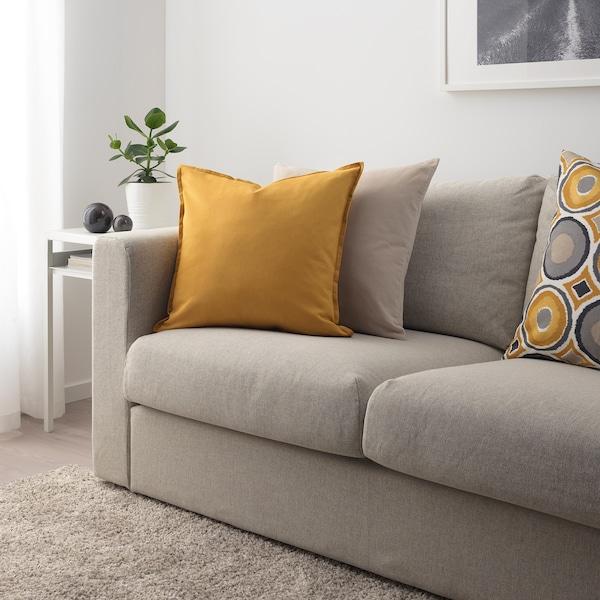 GURLI Housse de coussin, jaune doré, 50x50 cm