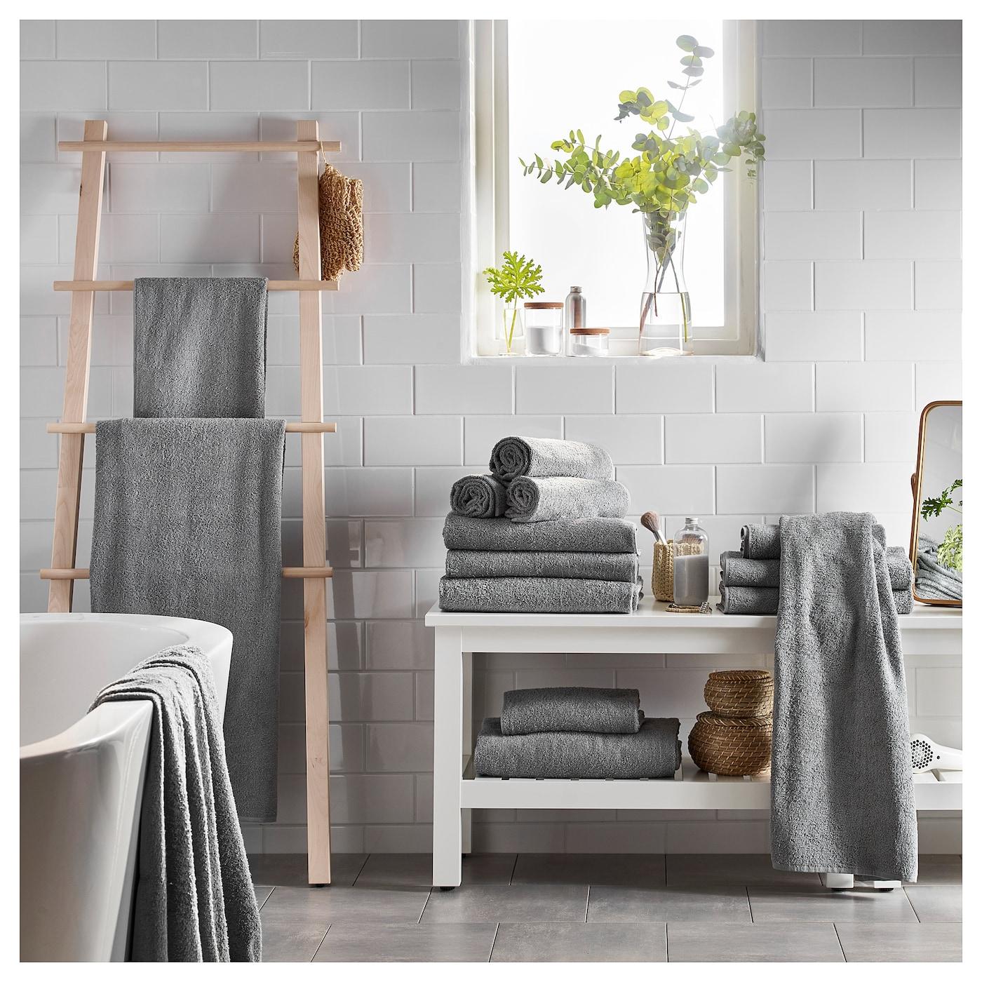 h ren drap de bain gris moyen 100 x 150 cm ikea. Black Bedroom Furniture Sets. Home Design Ideas