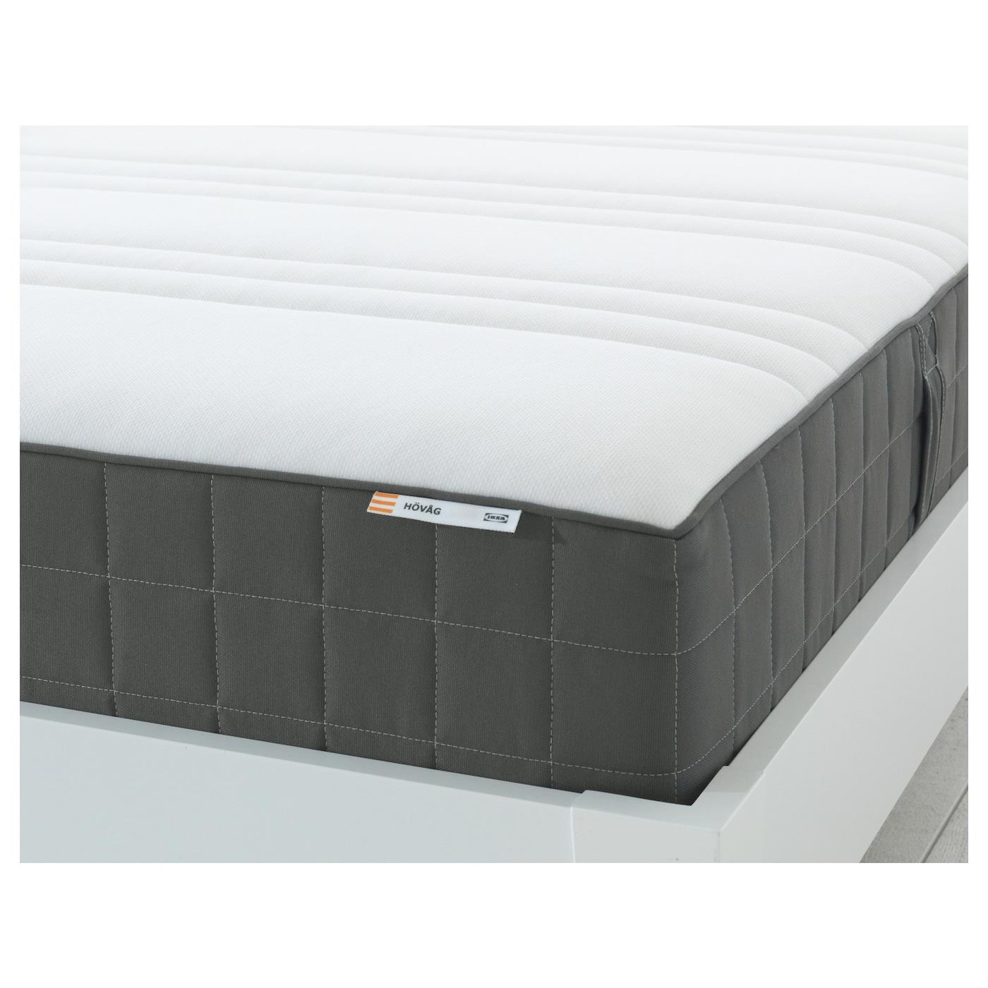 h v g matelas ressorts ensach s ferme gris fonc 90 x. Black Bedroom Furniture Sets. Home Design Ideas