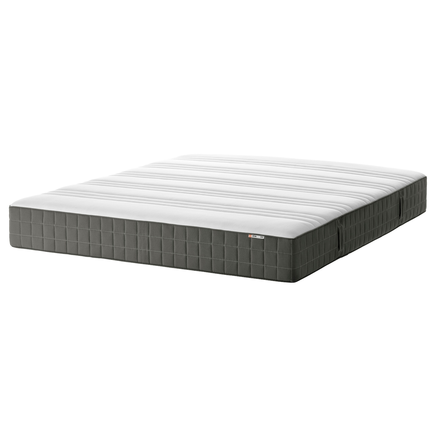 h v g matelas ressorts ensach s mi ferme gris fonc 160x200 cm ikea. Black Bedroom Furniture Sets. Home Design Ideas