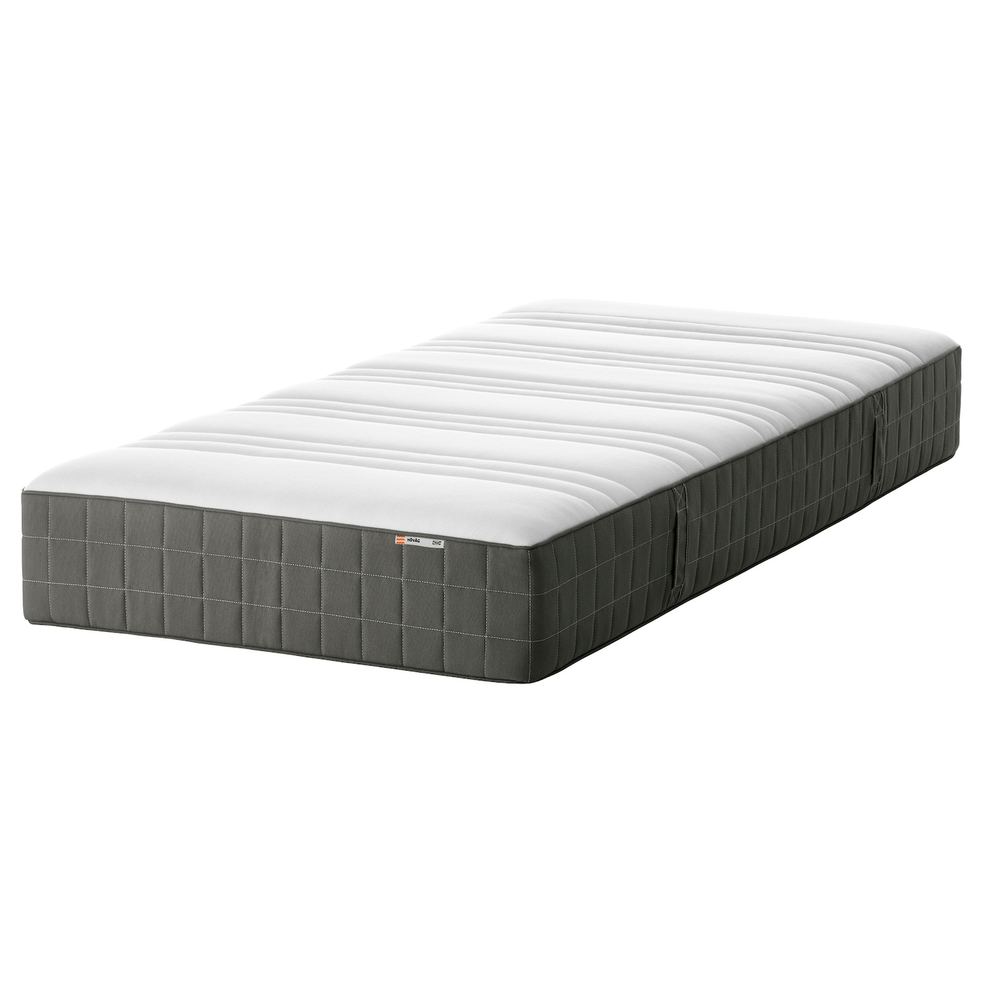 h v g matelas ressorts ensach s mi ferme gris fonc 90x200 cm ikea. Black Bedroom Furniture Sets. Home Design Ideas