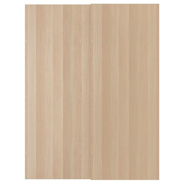 HASVIK Jeu 2 ptes coul, effet chêne blanchi, 150x201 cm