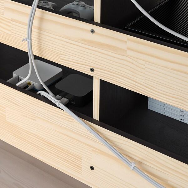 HAVSTA Banc TV avec plinthe, brun foncé, 160x47x62 cm