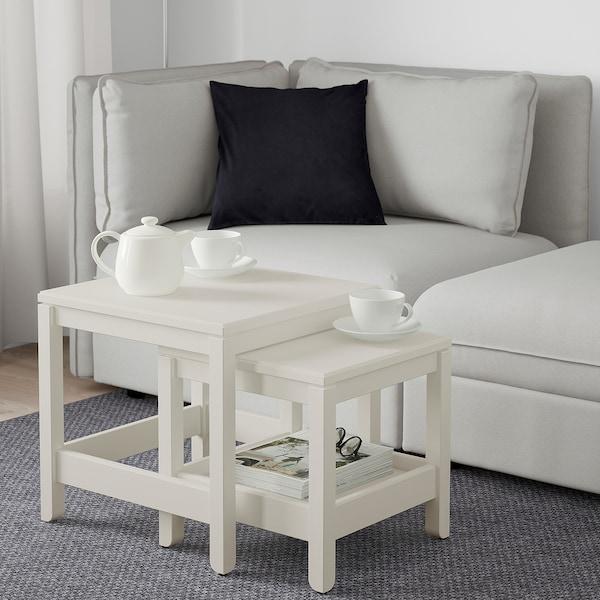Tables Gigognes Lot De 2 Havsta Blanc