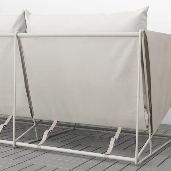 HAVSTEN Canapé 3 places, int/ext, beige, 260x94x90 cm