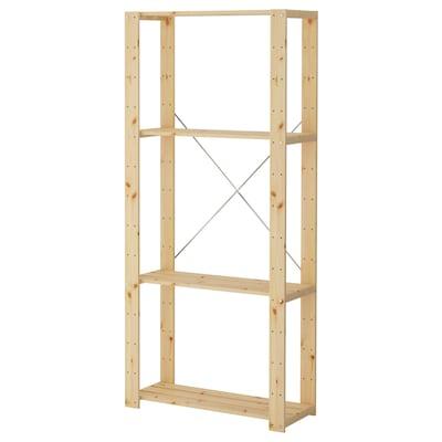 HEJNE 1 section, bois de conifère, 78x31x171 cm