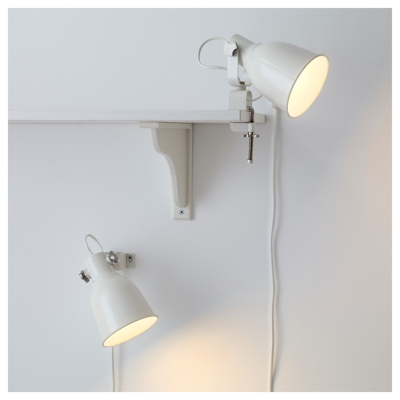 hektar applique spot pince blanc ikea. Black Bedroom Furniture Sets. Home Design Ideas