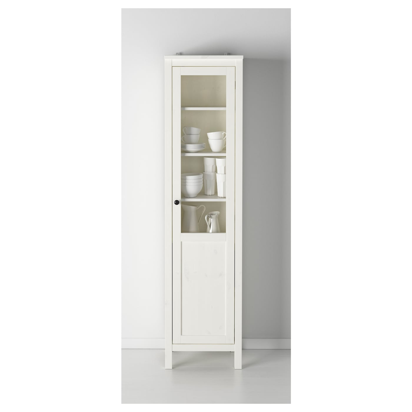 hemnes l ment avec porte panneau verre teint blanc 49x197 cm ikea. Black Bedroom Furniture Sets. Home Design Ideas