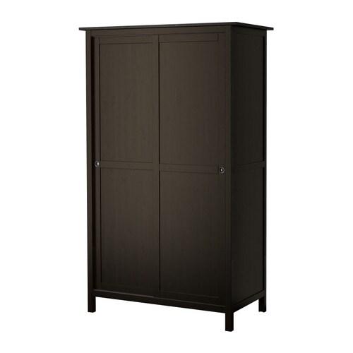 HEMNES Armoire 2 portes coulissantes Brun noir 120 x 197 cm - IKEA