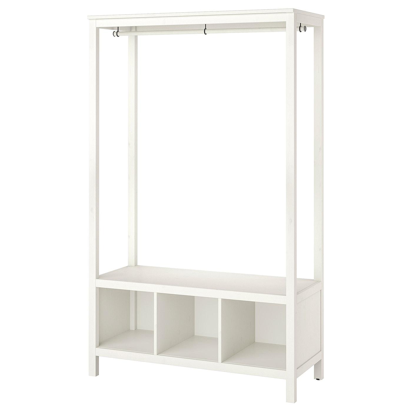 hemnes armoire ouverte teinté blanc 120 x 50 x 197 cm - ikea