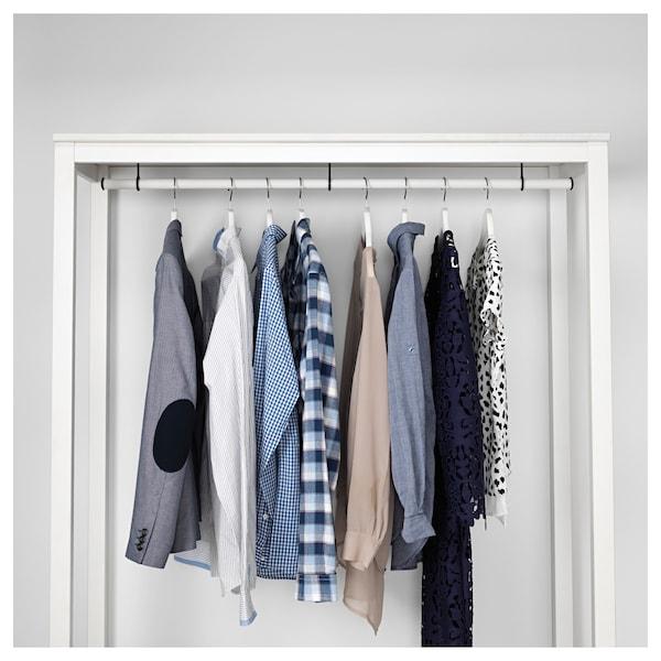 HEMNES Armoire ouverte, teinté blanc, 120x50x197 cm