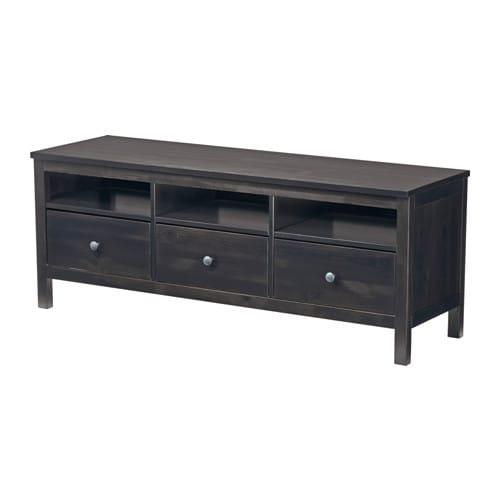 HEMNES Banc TV - brun noir, 148x47 cm - IKEA