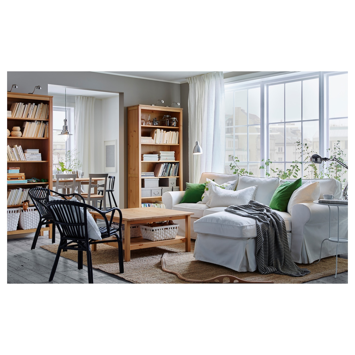 hemnes biblioth que brun clair 90 x 197 cm ikea. Black Bedroom Furniture Sets. Home Design Ideas
