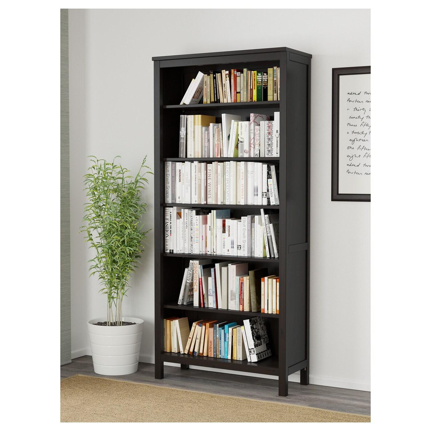 Hemnes Biblioth Que Brun Noir 90×197 Cm Ikea # Bibliotheque En Bois Massif