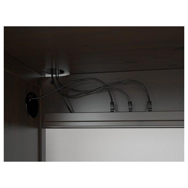HEMNES Bureau, brun noir, 155x65 cm