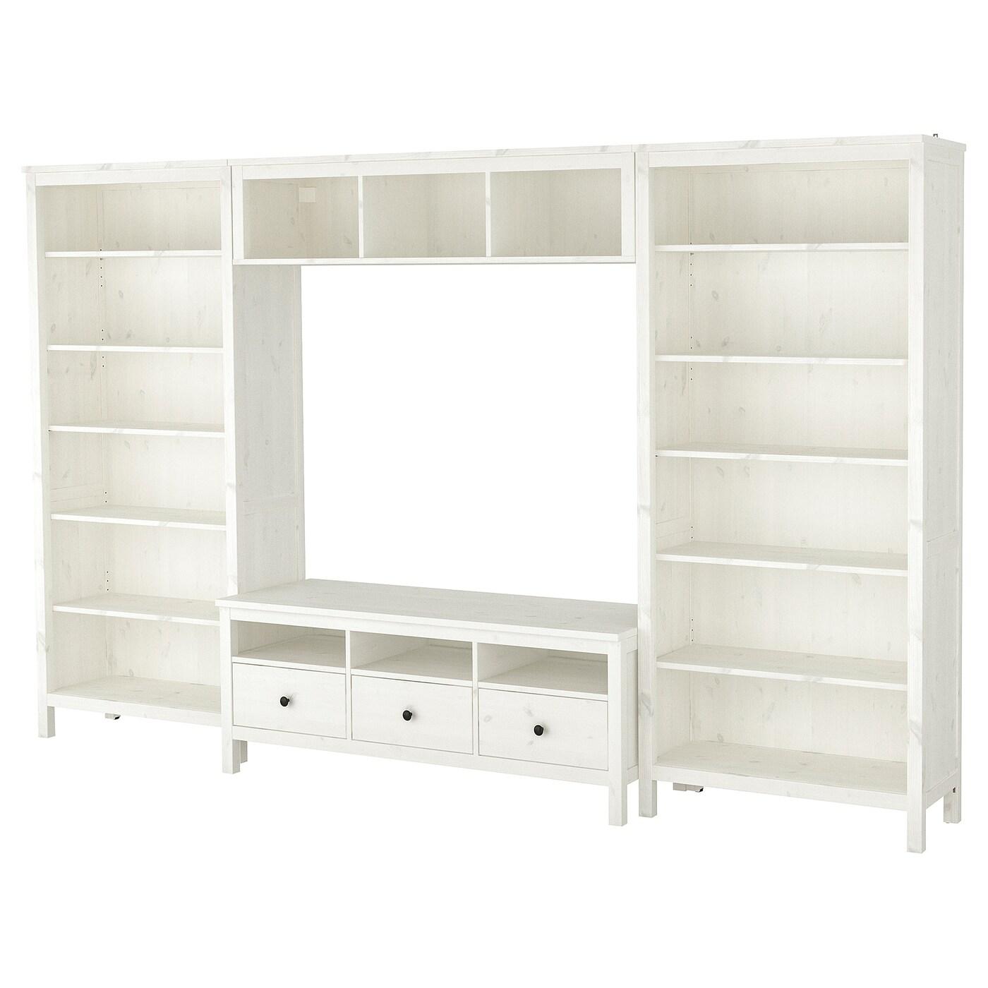 Hemnes Combinaison Meuble Tv Teinté Blanc 326 X 197 Cm Ikea