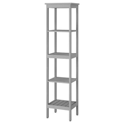 HEMNES Étagère, gris, 42x172 cm