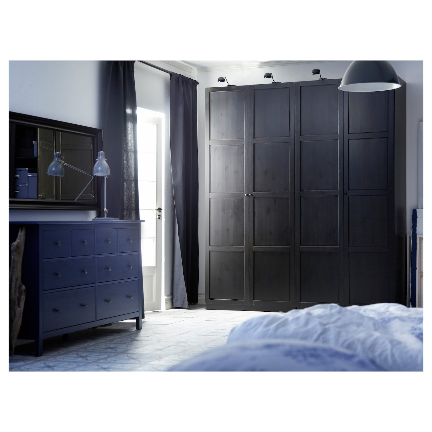 hemnes porte avec charni res brun noir 50x229 cm ikea. Black Bedroom Furniture Sets. Home Design Ideas
