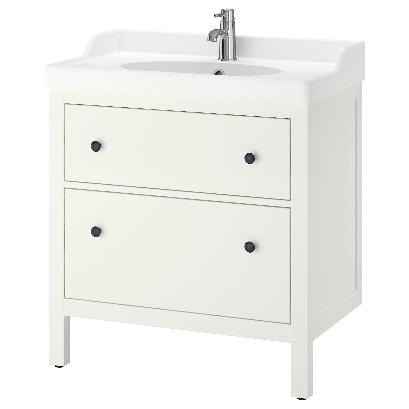 hemnes r ttviken meuble lavabo 2tir blanc 80x49x89 cm ikea. Black Bedroom Furniture Sets. Home Design Ideas