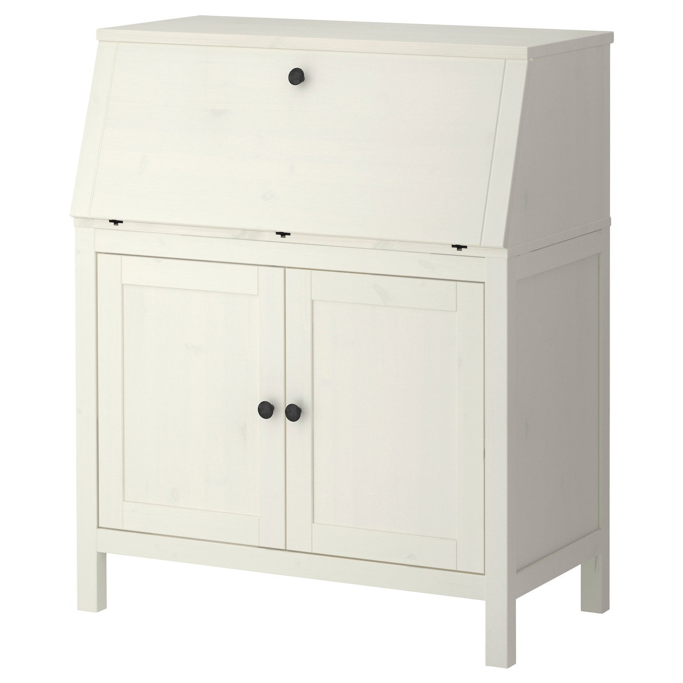 hemnes secrétaire teinté blanc 89 x 108 cm - ikea